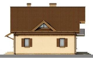 Elewacje projektu D42 - Błażej wersja drewniana