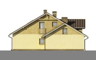 Elewacje projektu D34 - Antoni wersja drewniana