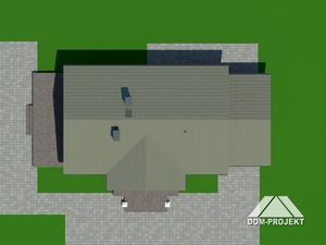 Działka projektu Chmielów dw z garażem