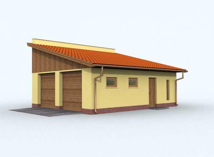 G110 garaż dwustanowiskowy