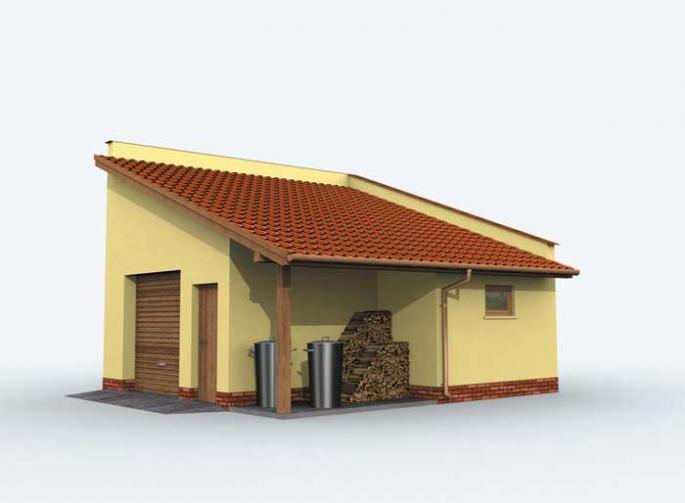 G159 garaż jednostanowiskowy z pomieszczeniem gospodarczym