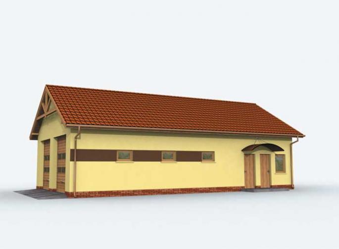 G162 garaż czterostanowiskowy z pomieszczeniami gospodarczymi